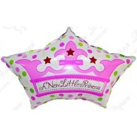 Фигурный шар - Корона для принца, розовый. 64 см.