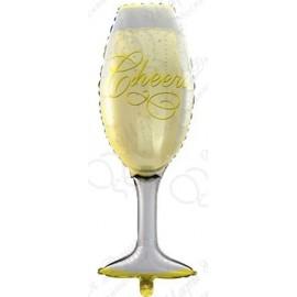 Фигурный шар - Бокал шампанского. 104 см.